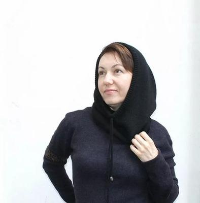 Фото. Капор-капюшон из кашемира.  Автор и работы - zkommo