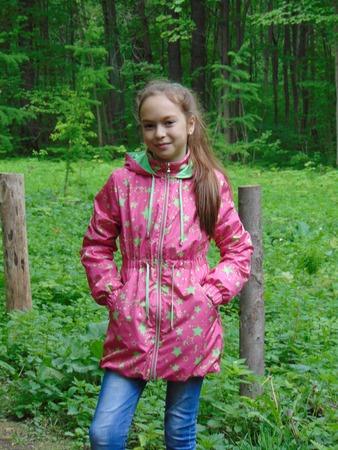 Фото. Ветровка для дочки из плащёвки фитсистем и дюспы-компаньона.