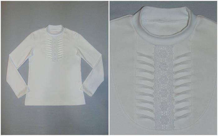 Фото. Блузки для школы. По ним даже сделан мастер-класс.