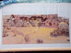 Схема для вышивки шоколадная ночь 195