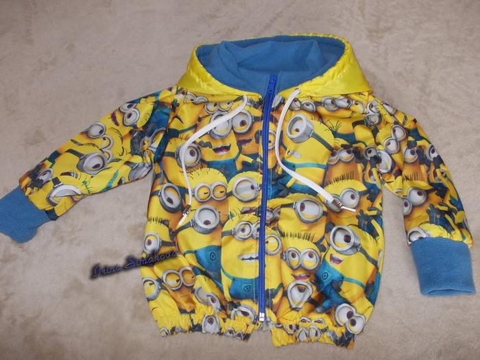 Фото. Курточка с миньонами. Автор работы - мамочкаИрочка