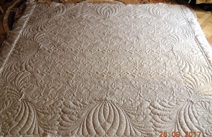 Фото. Стеганое одеялко. Размер 220х240. Автор работы - Nloshka