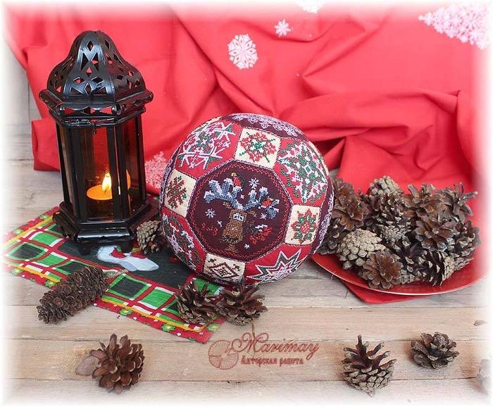 Фото. Скоро Новый год. Вышитый шар. Автор работы - marimay