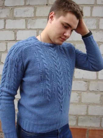 Фото. Пуловер из Creations 2013/2014 Bergere de France.  Автор работы - Tanykola