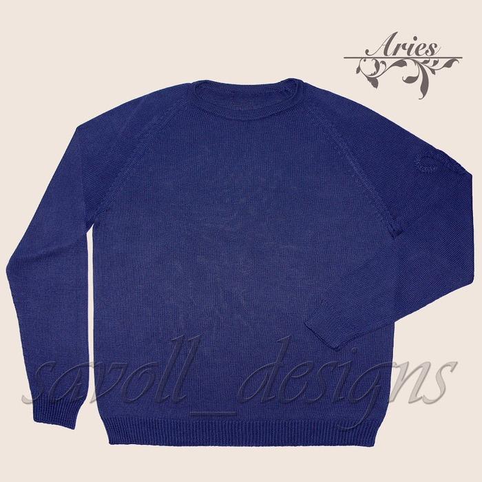 """Фото. Мужской шелковый свитер """"Aries"""" 100% шелк Botto Poala Shining.  Автор работы - Катара"""