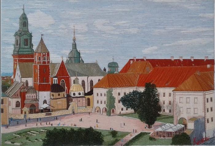 """Фото. Вышитая картина """"Королевский замок в Кракове"""".  Автор работы - майстрыня"""