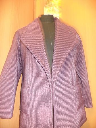 Фото. Пальто из плащевки стрейч модного цвета Tawny Port. Автор работы - St.Elena