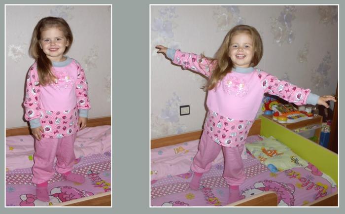 Фото. Пижама для дочки к новому осенне-зимнему сезону.  Автор работы - mamaMusya