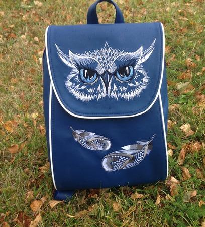 Фото. Рюкзак с вышивкой.  Автор работы - AnnaLila