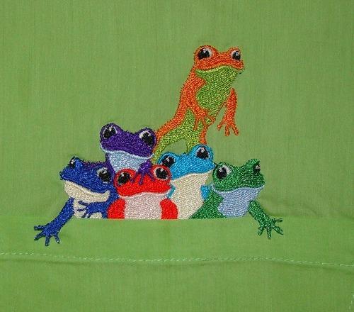 Фото. Вот такой кармашек! Машинная вышивка.  Автор работы - LukaNova