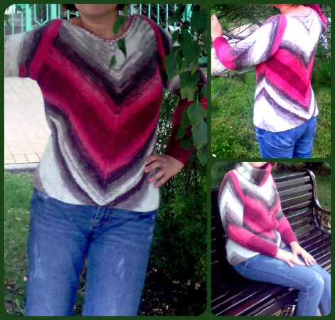Фото. Пуловер по мотивам модели Amy Polcyn.  Автор работы - Натулёна