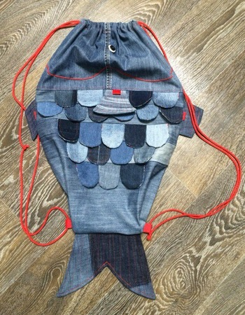 """Фото. """"Рыбка"""" - мешок для сменки. Автор работы - Anutik2013"""
