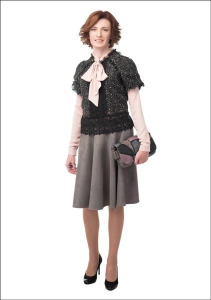 Комплект №3 . Жакет – Zara. Блуза – Finn Flare. Юбка – Lusio