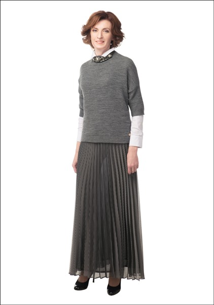 Комплект №4 . Джемпер, блуза и юбка – Caterina Leman