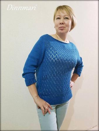 Фото. Пуловер без швов April (Апрель) дизайнера Isabell Kraemer.  Автор работы - Инчик2007