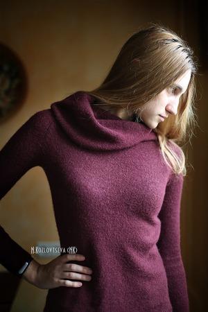Фото. Пряжа Альпака-беби в 1 нить. машинное вязание.   Автор работы - NK