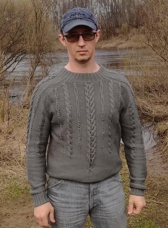 Фото. Пуловер из Creations 2013/2014 Bergere de France.  Автор работы - НатТусся