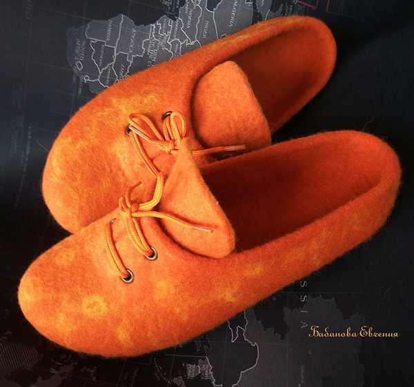 """Фото. Тапочки """"Оранжевое настроение"""". Автор работы - Didelphidae"""