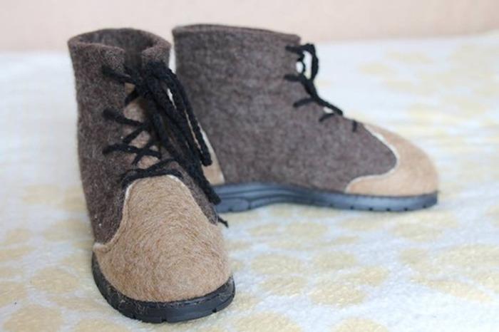 Фото. Валяные ботиночки. Автор работы - skamnad1