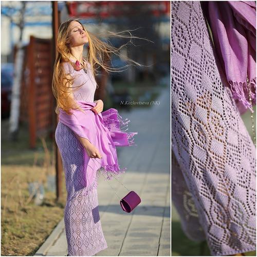 Фото. Гармония цвета - это важно донести до зрителя. Платье Ажуром.