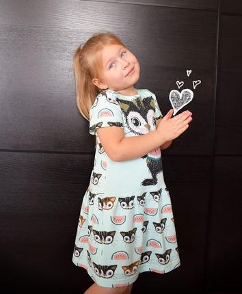 Фото. Платье для дочки. Органический джерси.   Автор работы - Kroha_ru85