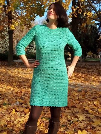 Фото. Вязаное платье. Автор работы - Рикки