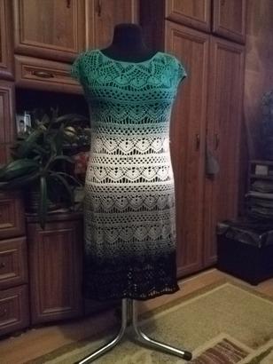 Фото. Вязаное платье. Автор работы - Galinka373