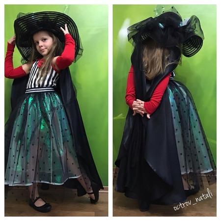 Фото. Карнавальный костюм Феечка: юбка из органзы, шляпа из фатина, креп- сатин  для накидки . Автор работы - octrov_natali