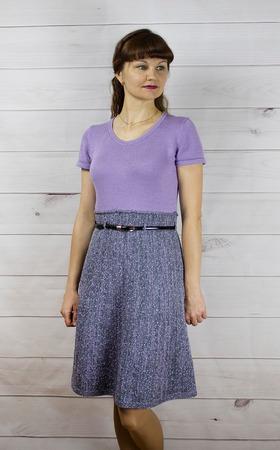 Фото. Сиреневое платье. Автор работы - Далиса