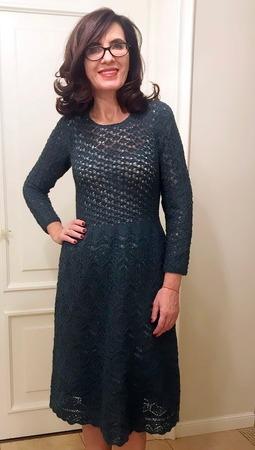Фото. В подарок дочери к юбилею  платье NOCTUA TETRA TWEED. Автор работы - Краля