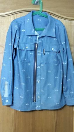 Фото. Рубашка по выкройке куртки.  Автор работы - Наталья-я
