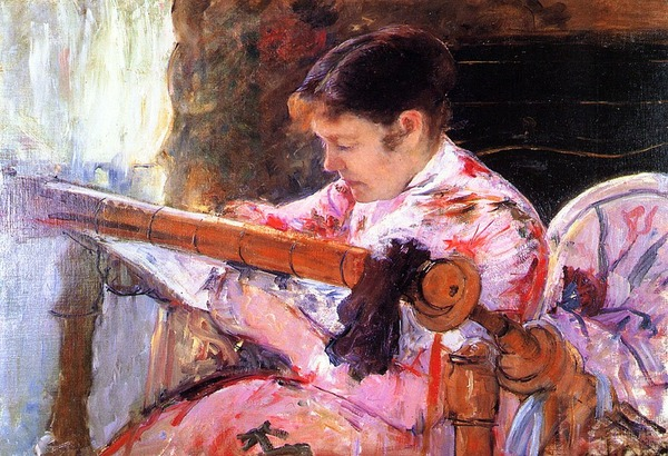 """Фото. Mary Cassatt  """"Lydia at the Tapestry Loom"""" (1881)"""