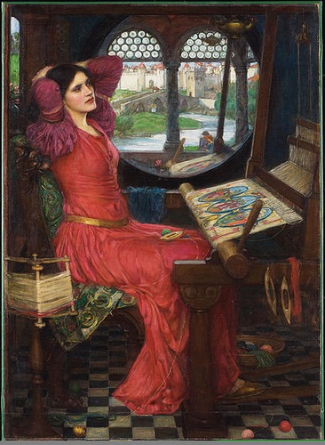 "Фото. Дж.У. Уотерхаус ""Леди из Шалот"" (1888)"