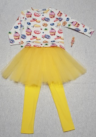 Фото. Комплект: туника,юбочка и лосины.  Автор работы - Iriskacat