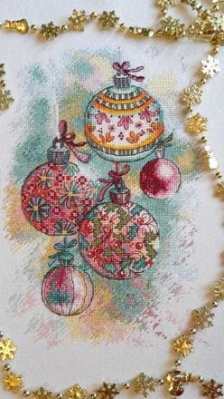 Фото. Новогодние шары от Анны Петуновой. Автор работы - tiguara