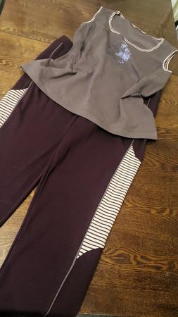 Фото. Топ и брюки на фитнес готовы!  Автор работы - Наталья-я