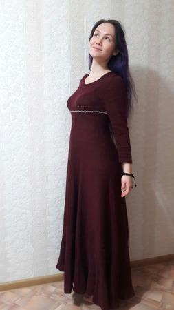 Фото. Платье, связано на машинке.  Автор работы - lana29.09