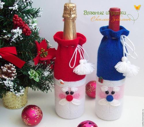 Фото. Новогодние дизайны для бутылки шампанского.  Автор работы - Светта-конфетта