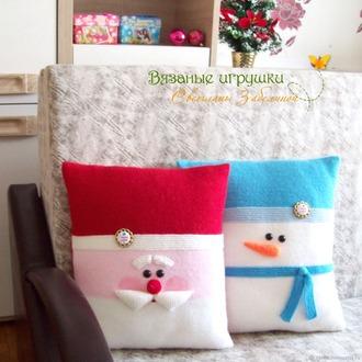 Фото. Новогодние подушки.  Автор работы - Светта-конфетта