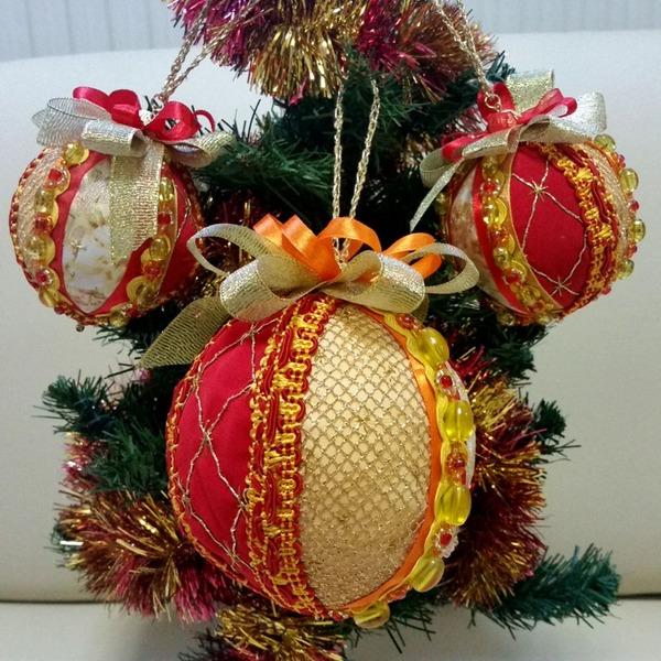 Фото. Елочные шары.  Автор работы - Tatami4ka