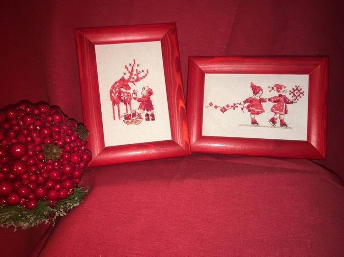 Фото. К Новому году - дизайны из сэмплера Парижских вышивальщиц.. За схему спасибо Danonchik.  Автор работы - valevsky