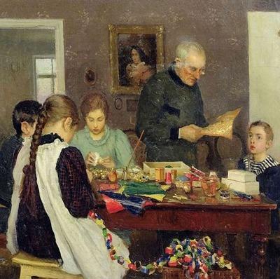 """Фото. C. В.  Досекин """"Подготовка к Рождеству"""" (1896)"""