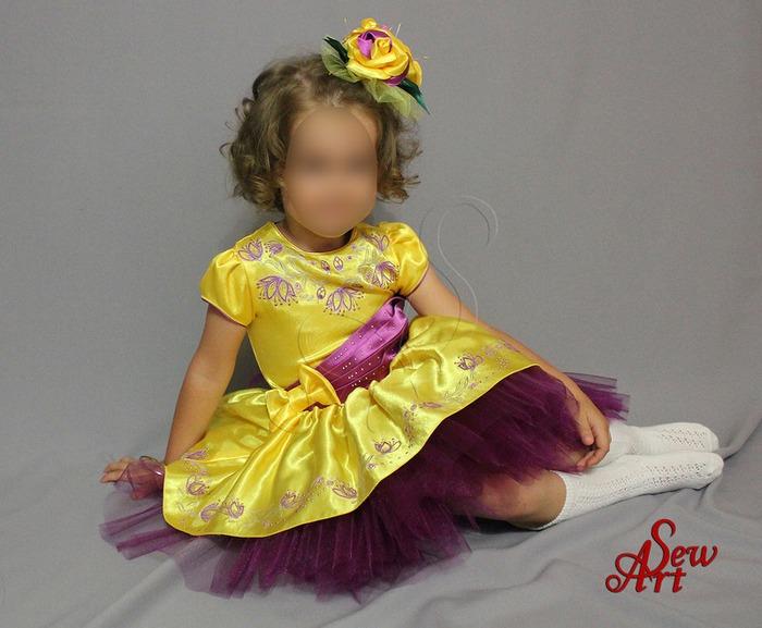 Фото. Платье из креп-атласа. Автор работы - Мама_нтенок