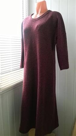 Фото. Платье из буклированной меланжевой пряжи.  Автор работы - Stavros2011