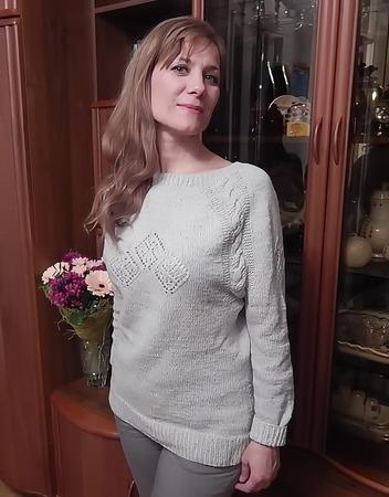 Фото. Пуловер из стоковой итальянской пряжи CAMICIOLA02. Автор работы - Краля