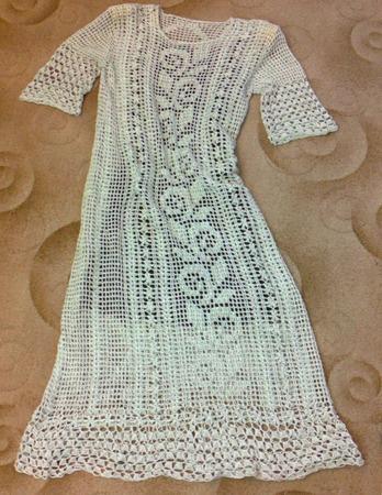 Фото. Платье в филейной технике. Автор работы - Nikita 13