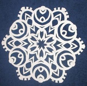 Фото. Классика - снежинки из бумаги. Автор работы - Ptichonok