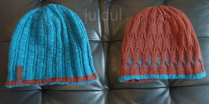 Фото. Мужская двойная шапка для папы,.  Автор работы - Julysya