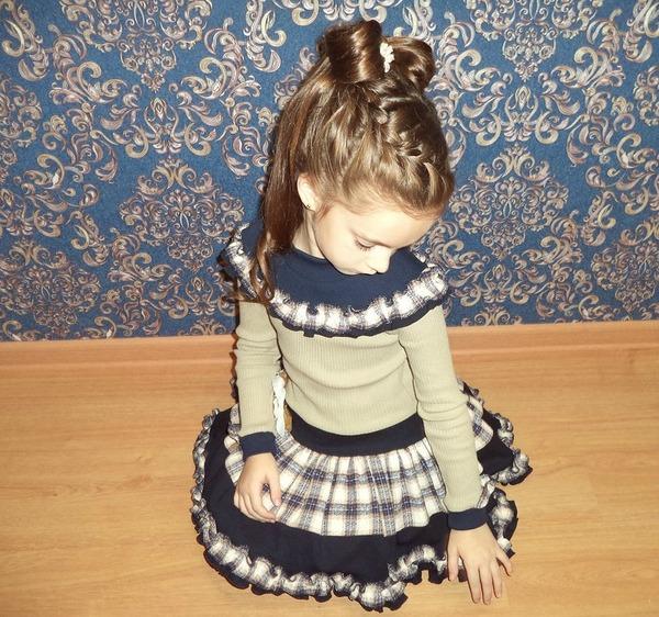 Фото. Платье-переделка в детский сад.  Автор работы - мама Юся