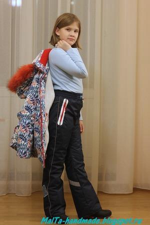 Фото. Зимние брюки из мембраны. Автор работы - MalTa